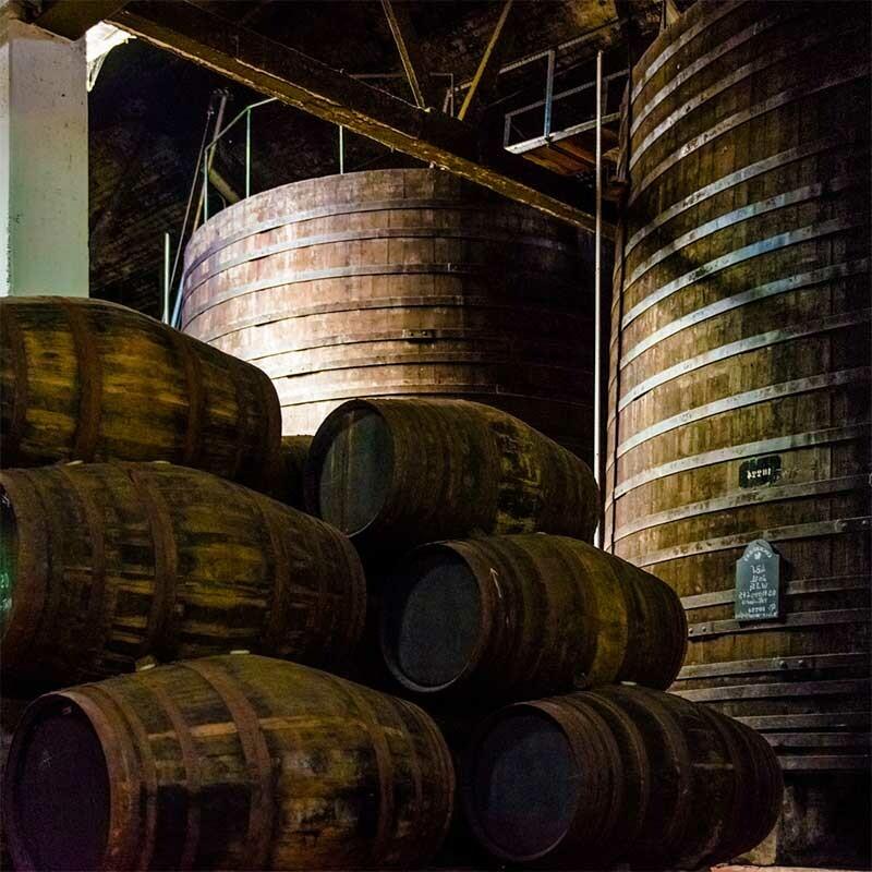Weingärung bei der Weinbereitung