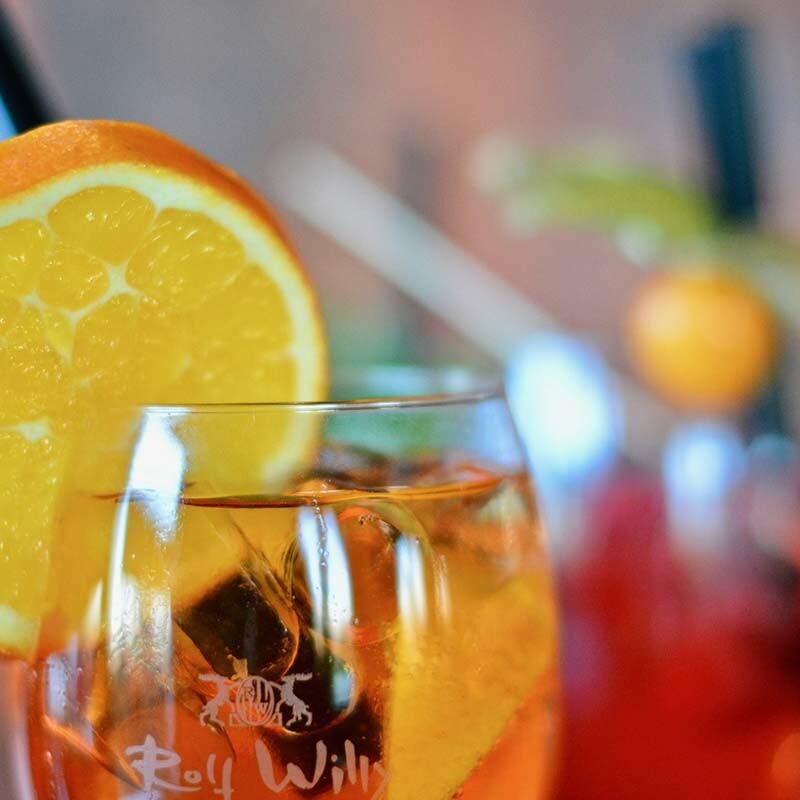 orangewein zu vegetarischem essen