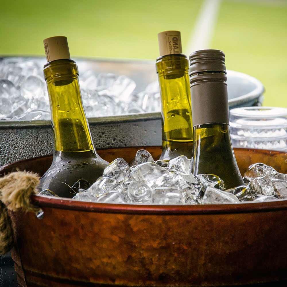 Weinkorken auf deutschem Wein