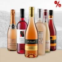 Weinpaket mit internationalen Roseweinen